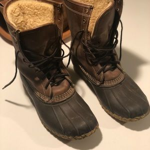 """L.L. Bean Shoes - LL Bean Boots, 10"""" Leather Shearling-Lined"""